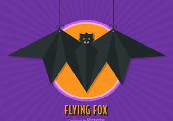 Free Flying Fox Vector Illustration - Free vector #332565