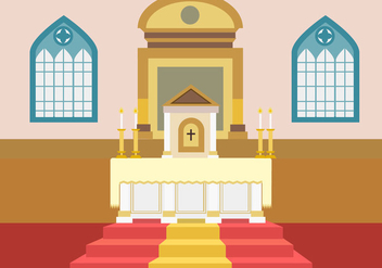 Church Altar Free Vector - vector gratuit #332615