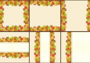 Thanksgiving Frames And Templates - vector #332655 gratis