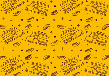 Free Foodtruck Vector Patterns #2 - Kostenloses vector #332695