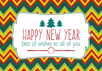 Colorful Happy New Year Illustration - vector gratuit #333015