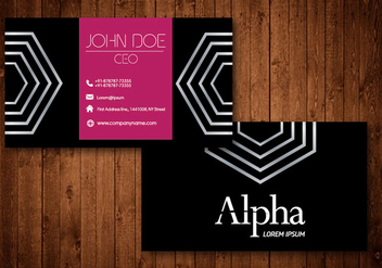 Creative Business Card - vector gratuit #333055