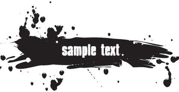 Black Ink Splashed Banner - vector gratuit #333525