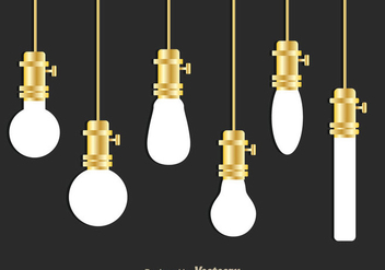 Hanging White Bulb - Free vector #333825