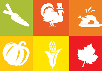 Thanksgiving White Icons - vector #333845 gratis