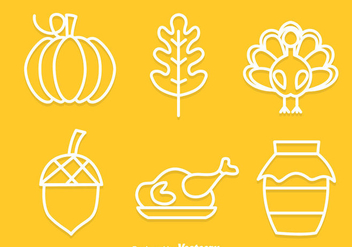 Thanksgiving Outline Icons - vector #333855 gratis