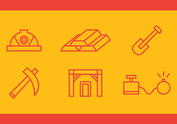Free Gold Mine Vector Icons #3 - Free vector #333875