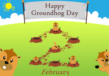 Groundhog Day!! - vector #333895 gratis