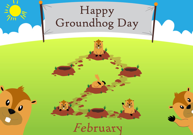 Groundhog Day!! - vector gratuit #333895