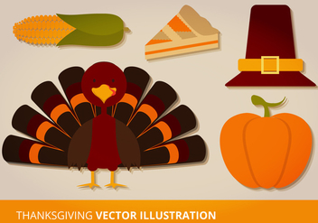 Thanksgiving Vector Set - Free vector #333905