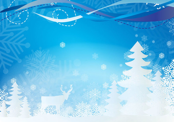 Snowy Landscape - Free vector #333955