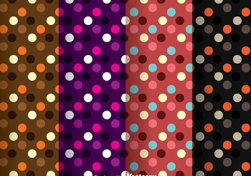 Dark Polka Dot Pattern - Free vector #334055