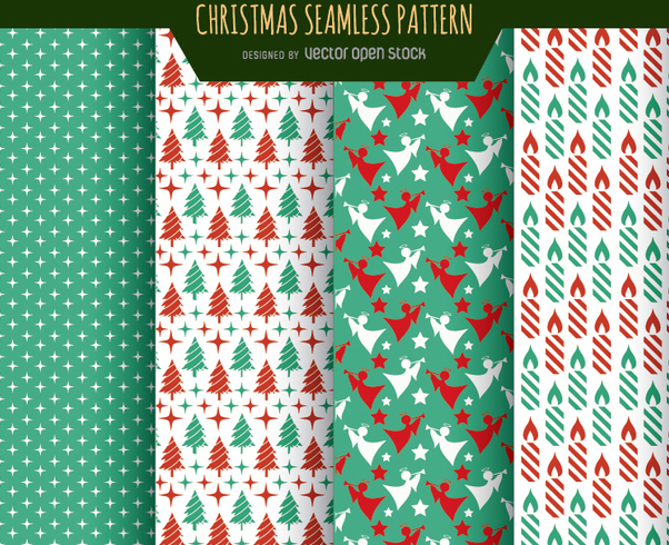Christmas wallpaper textures - Free vector #334335