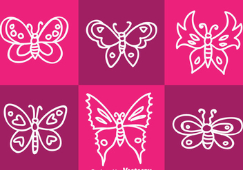White Butterfly Vector - Free vector #334435