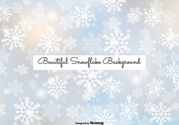 Shiny Snowflakes Winter Background - vector gratuit #334465