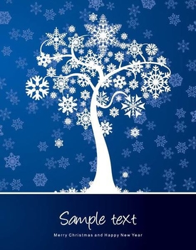 Snowflake Tree Christmas Background - vector gratuit #334505