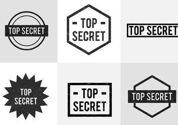 Top Secret Stamp - vector gratuit #334635