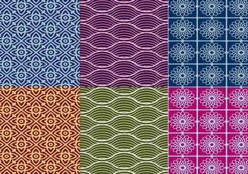 Textured Thai Pattern Vectors - vector gratuit #334865
