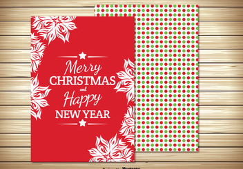 Two Parts Christmas Greeting Card - Free vector #334915