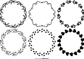 Cute Decorative Frame Set - Free vector #335285