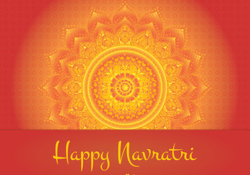 Happy Navratri Illustration - Free vector #335295