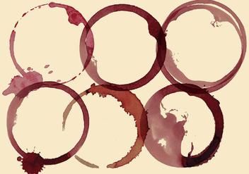 Wine Stains - vector gratuit #335315