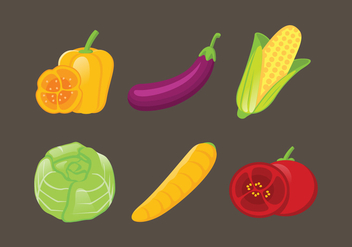 Vector Vegetables Illustration Set - бесплатный vector #335385