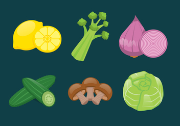 Vector Vegetables Illustration Set - бесплатный vector #335405