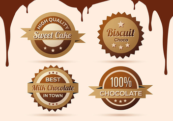 Free Collection of Chocolate Labels, Badges and Icons - Kostenloses vector #335435