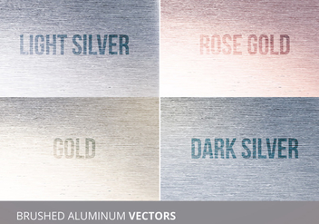Brushed Aluminum Vector Texture - Free vector #335455