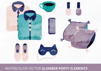 Slumber Party Vector Elements - Free vector #335465