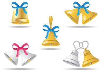 Realistic Wedding Bells - vector gratuit #335515