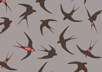 Swallow Vectors - vector gratuit #335545