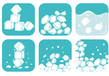 Crushed Ice Vectors - Free vector #335555