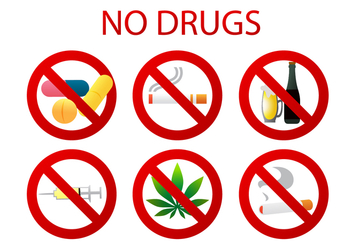 No Drugs Vectors - vector gratuit #335585