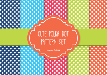 Polka Dot Pattern Set - Free vector #335595
