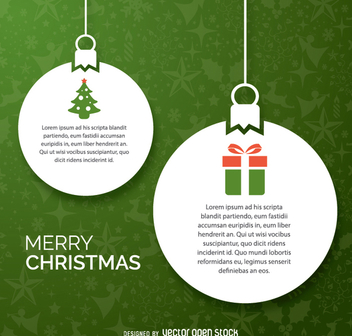 Christmas balls paper design - Free vector #335695