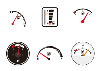 Various Fuel Gauge Vectors - vector #335755 gratis
