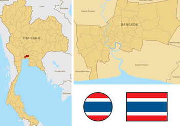 Thailand Map - vector gratuit #335765