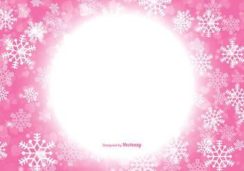 Snowflakes Pink Xmas Background - Free vector #335865