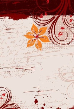 Floral Grungy Message Background - vector gratuit #335905