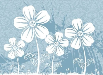 Flower Plants Grungy Floral Pattern - Free vector #335915