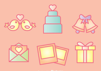 Wedding Icons Set - Free vector #335975