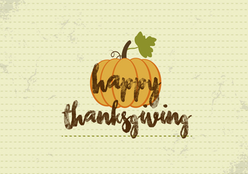 Free Happy Thanksgiving Pumpkin Vector - Kostenloses vector #336025