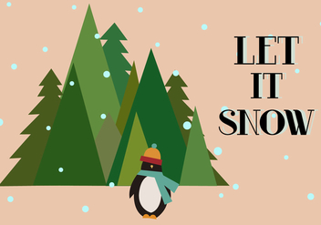 Free Let It Snow Vector - Kostenloses vector #336035