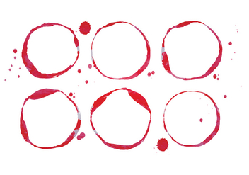 Vector Wine Stains - vector gratuit #336055