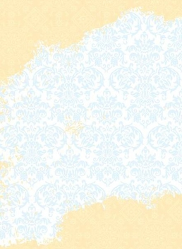 Blue Gold Floral Ornament Pattern - vector gratuit #336065