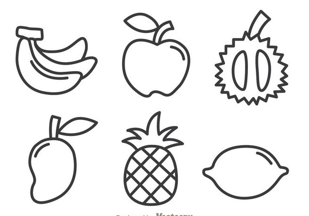 Fruits Outline Icons - Free vector #336115