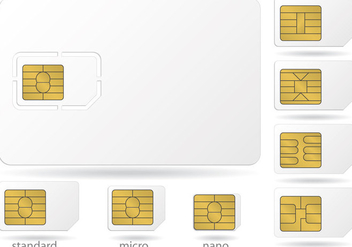Sim Card Microchip Vectors - бесплатный vector #336135