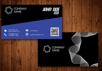 Spiral Creative Business Card - vector gratuit #336185